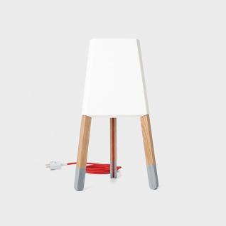 Licht-Trend La3b 50 Tischleuchte mit Holzfuß aus Eiche Weiß Dreibeinleuchte