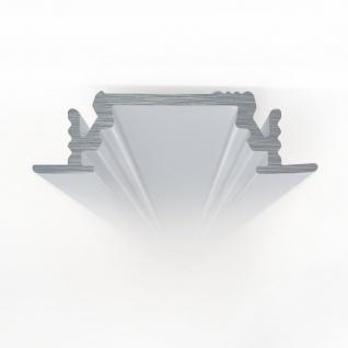 Einbauprofil 200cm Alu-eloxiert ohne Abdeckung für LED-Strips