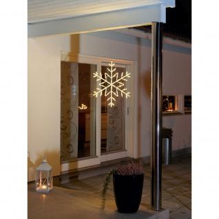 LED Acryl Schneeflocke 60 Warmweiße Dioden 24V Außentrafo