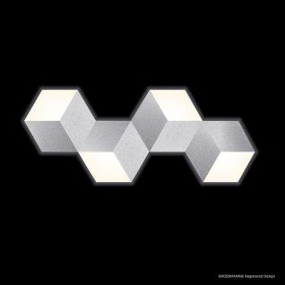 Grossmann 74-779-072 Geo LED-Deckenleuchte 4-flammig 100 x 40cm Alu-matt