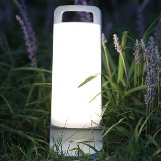 Mobile LED Solarlampe Dragonfly IP54 Weiß Solar Gartenlampe Gartenleuchte