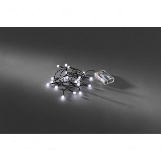 LED Globelichterkette runde Dioden Timer 20 Kaltweiße Dioden batteriebetrieben für Innen