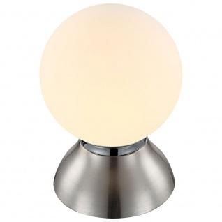 Globo 21928 Kitty Tischleuchte Nickel-Matt Chrom E14 LED