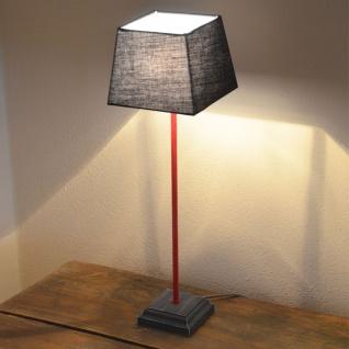 Licht-Trend Loft Retro Tischlampe aus Holz / Tischlampe Vintage Stofflampe