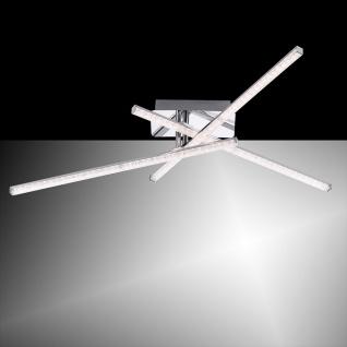 LeuchtenDirekt 11293-17 Simon LED Acryl Deckenlampe 3x 5W 3000K Chrom