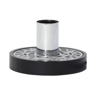 Tischleuchte für E27 Leuchtmittel Schwarz, Silberfarben