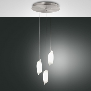 Fabas Luce 3300-47-178 Roxie LED Pendelleuchte dimmbar 2160lm Nickel-Satiniert