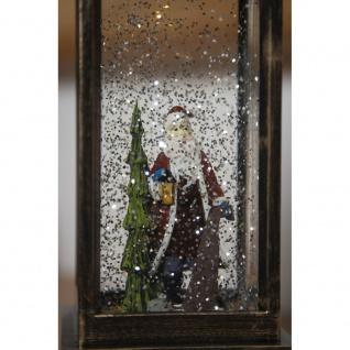 LED Schneelaterne mit Weihnachtsmann wassergefüllt 1 Warmweiße Diode batteriebetrieben für Innen - Vorschau 5