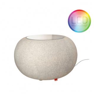 Moree Granit Bubble LED Tisch oder Hocker Dekorationslampe