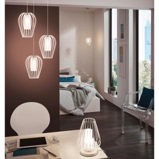 Eglo 94338 Vencino LED Hängeleuchte 1 x 6 W Stahl Weiss Chrom Glas satiniert Weiss lackiert