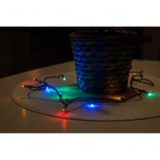 Micro LED Lichterkette verschweißt 20 bunte Dioden 24V Innentrafo dunkelgrünes Kabel - Vorschau 3