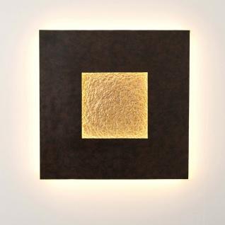 Holländer 300 K 13227 Wandleuchte Eclipse Gross Eisen Braun-Schwarz-Gold