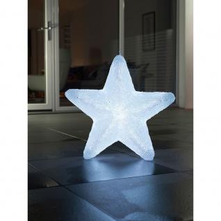 LED Acryl Stern mit 6 Farbwechselfunktionen 75 RGB Dioden 12V Außentrafo