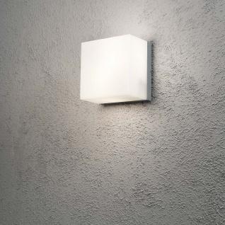 Konstsmide 7927-312 Sanremo Energiespar Aussen-Wand- & Deckenleuchte Grau opales Polycarbonat Glas