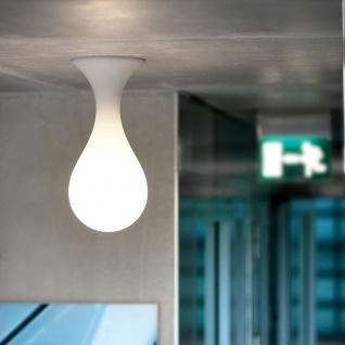 next Drop_1 small Deckenleuchte H: 40cm Liquid-Light Weiß Deckenlampe