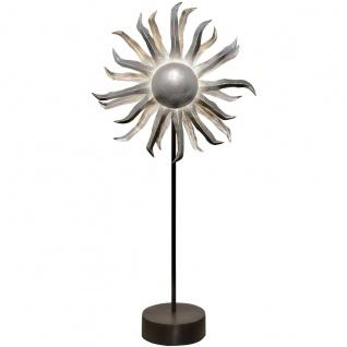 Holländer 300 K 12195 S Tischleuchte 6-flammig Sonne Eisen Schwarz-Silber - Vorschau 2