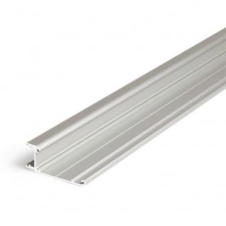 Aufbau-Wandprofil schräg 200cm Alu-eloxiert ohne Abdeckung für LED-Strips