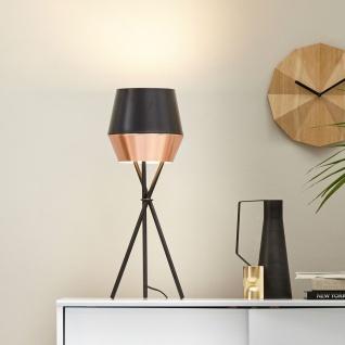 s.LUCE LED Tischleuchte SkaDa Ø 20cm Kupfer Schwarz Nachttischleuchte Tischlampe - Vorschau 2