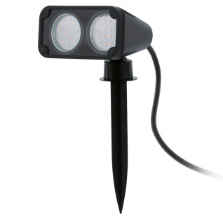Eglo 93385 Nema 1 LED Aussen-Aussenstrahler Schwarz Transparent