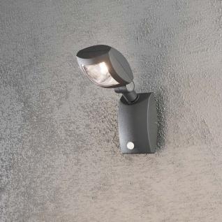 Konstsmide 7937-370 Latina LED Aussen-Wandleuchte mit Bewegungsmelder Anthrazit klares Acrylglas