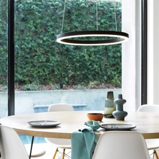 s.LUCE pro LED-Hängeleuchte Ring M Ø 60cm Schwarz Design Hängelampe Ringleuchte