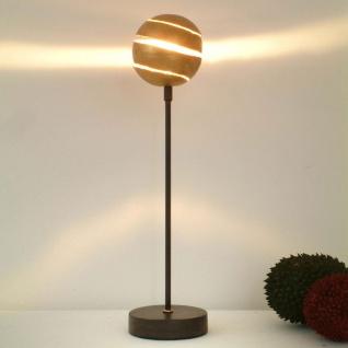 Holländer 300 K 12128 Tischleuchte Piccola Palla Eisen Braun-Schwarz-Gold