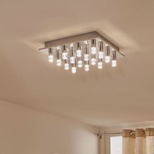 Eglo 94161 Cartama LED Deckenleuchte 5 x 45 W Stahl Chrom Kunststoff klar satini