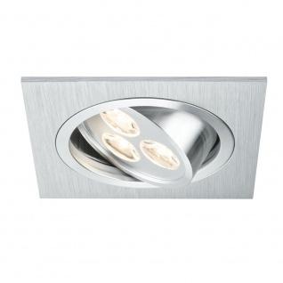 Paulmann Premium EBL Aria eckig schwb. LED 1x3W 350mA 92x92mm Alu geb. Chr. matt - Vorschau 1