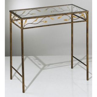 Kögl 2004 Tisch rechteckig rost-antik Gold patiniert 60cm