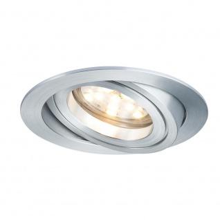 Paulmann 3er LED Einbauleuchten-Set Coin klar rund 7W Alu dimm- & schwenkbar 92817