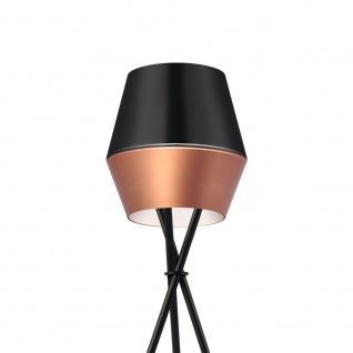 s.LUCE LED Tischleuchte SkaDa Ø 20cm Kupfer Schwarz Nachttischleuchte Tischlampe - Vorschau 4