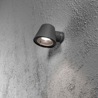 Konstsmide 7523-370 Trieste Aussen-Wandleuchte Schwarz klares Acrylglas Reflektor