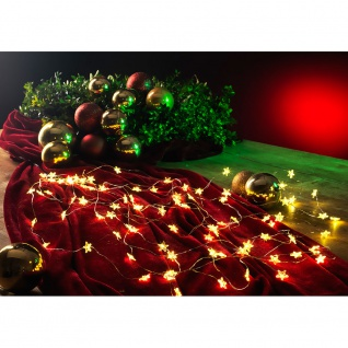 LED Sternenlametta 10 Stränge mit 9 Dioden 90 Warmweiße Dioden 12V Innentrafo silberfarbener Draht
