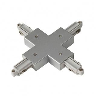 SLV X-Verbinder für 1-Phasen HV-Stromschiene Aufbauversion silbergrau 143162
