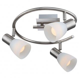 Globo 54534-3 Parry I Strahler Nickel-Matt 3xE14 LED