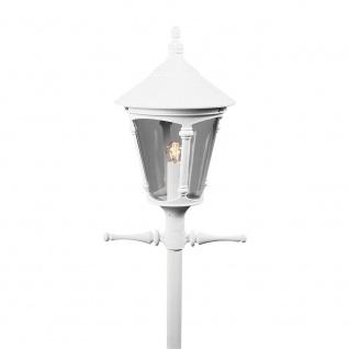Konstsmide 570-250 Virgo Leuchtenkopf für Mastleuchte Weiß rauchfarbenes Acrylglas