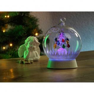 Glaskugel Weihnachtsbaum mit 3 Funktionen Timer RGB-Farbwechsel 1 RGB Diode batteriebetrieben für Innen