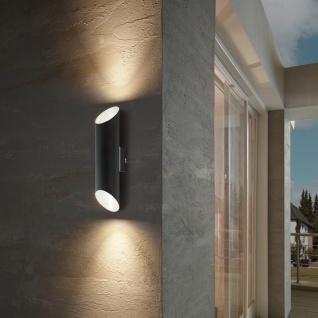 Agolada LED Aussen-Wandleuchte 2-flammig schwarz Kupfer Wandlampe Aussen