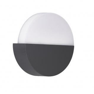 Wofi Soho LED Außenleuchte Grau Wandlampe Aussen