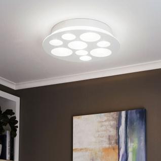 Eglo 94588 Pernato LED Wand & Deckenleuchte 9 x 33 W Stahl Weiß Glas satiniert Weiß klar