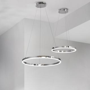 s.LUCE pro LED-Hängelampe Ring S Dimmbar Ø 40cm Chrom Wohnzimmer Hängeleuchte