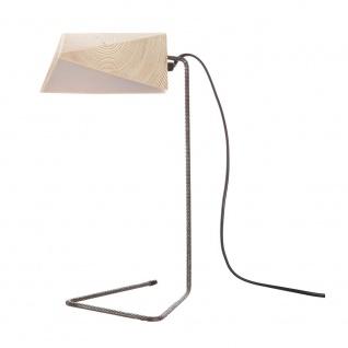 Almleuchten S4 massive Tischleuchte aus Altholz Braun Tischlampe aus Holz - Vorschau 3