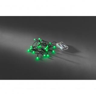 LED Globelichterkette runde Dioden Timer 20 grüne Dioden batteriebetrieben für Innen