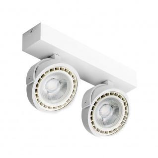 Licht-Trend Kalo LED-Aufbaustrahler 2 x 1150lm ES111 dimmbar Weiß