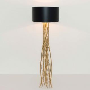 Holländer 280 K 1101 Stehleuchte Capri Metall Gold-Schwarz
