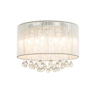 LED Deckenleuchte Sierra LED Chrom, Silber-Metallic, Klar