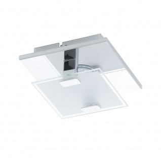 Eglo 93311 Vicaro LED Wand- & Deckenleuchte Weiß Klar Chrom