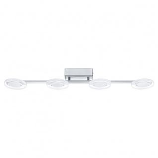 Eglo 94159 Cartama LED Deckenleuchte 4 x 45 W Stahl Chrom Kunststoff klar satiniert