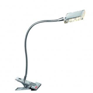 Paul Neuhaus 4441-17 LED-Klemmleuchte DAAN / 1er Spot mit Schalter / 4W / Chrom