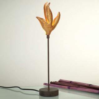 Holländer 300 K 12162 Tischleuchte Piccola Pelicano Eisen Braun-Schwarz-Gold